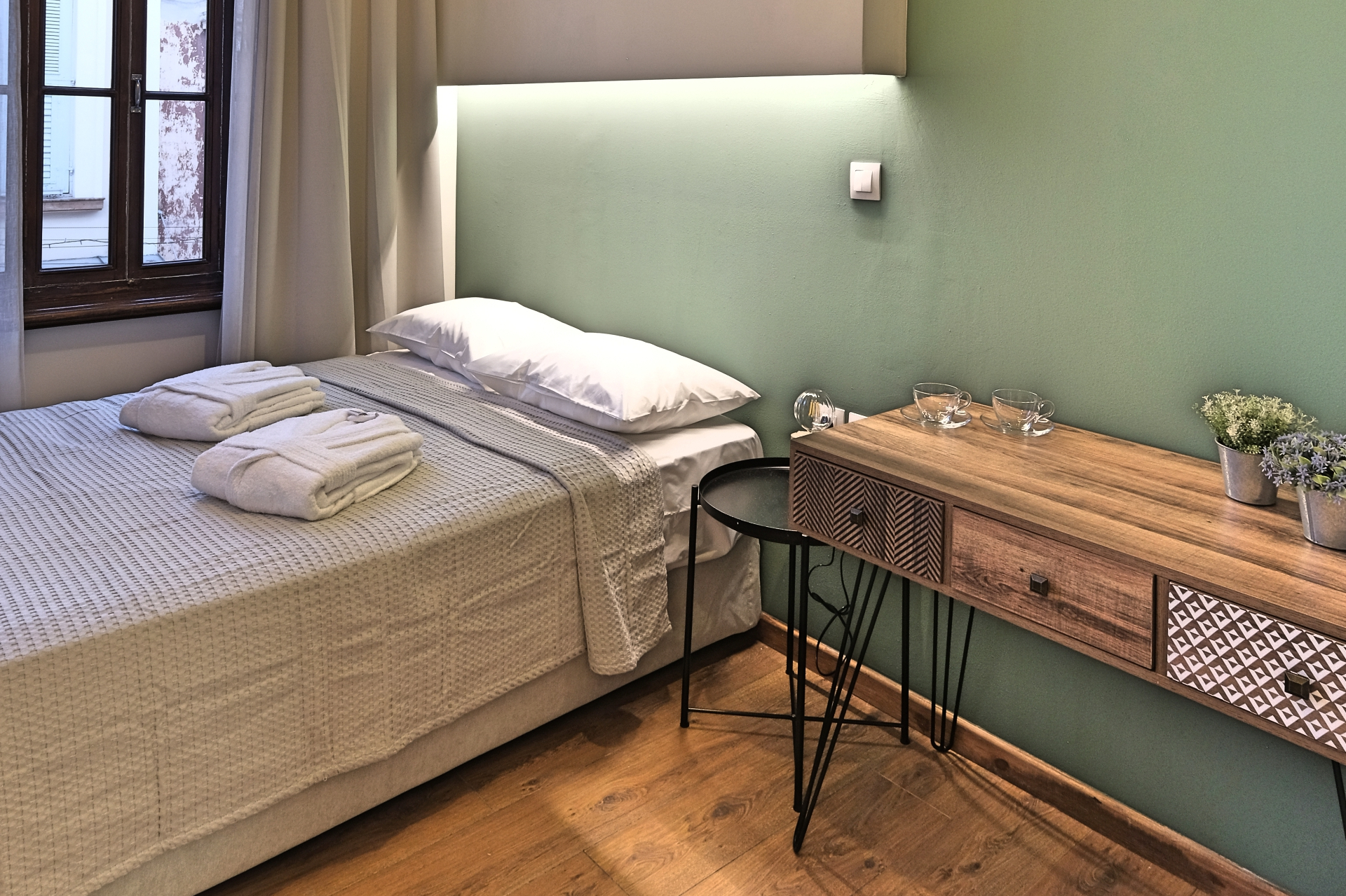 Budget Single Room Bed & Desk - Agora Residence - Hotel in Chios 1