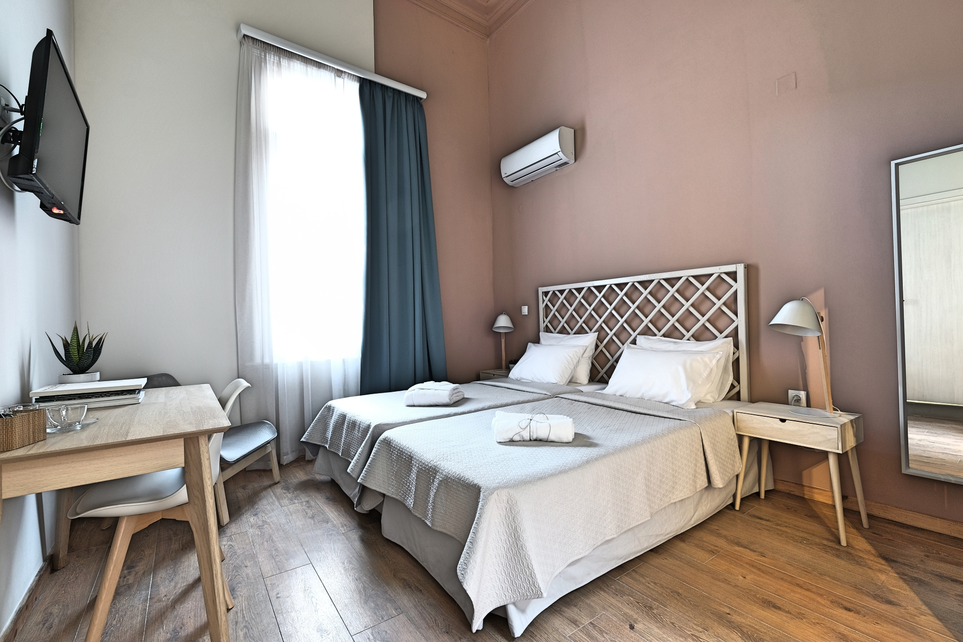 Standard Double Room with Twin Beds 1 - Agora Residence - Hotel in Chios