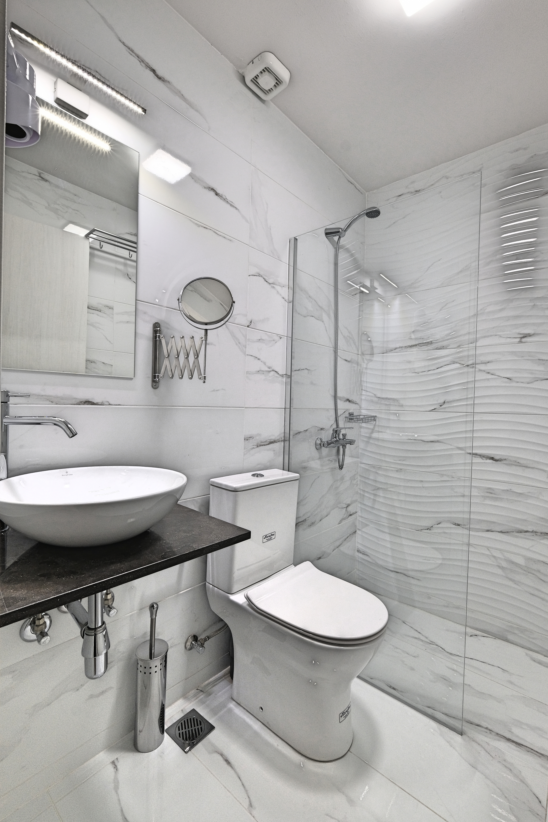 Superior Double Room Bathroom - Agora Residence - Hotel in Chios